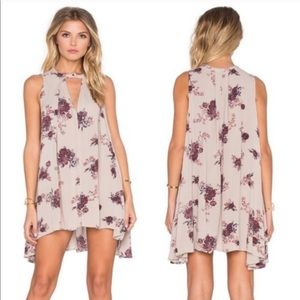 Free People floral tunic swing dress
